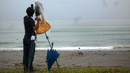 砂浜の撮影(雨.JPG