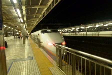 新幹線、去る.JPG